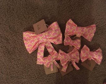 Assorted Dog Collar Bows and Bow Ties