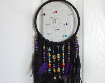 Black Dream Catchers, Wedding Dream Catchers, House decor, Bedroom decor, Wall hanging