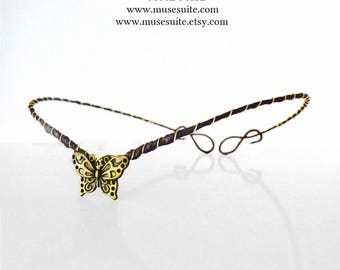 Butterfly Tiara - Butterfly Crown - Butterflies Diadem - Fairy Crown - Faery Tiara - Fae Diadem.