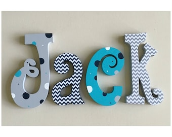 Nursery decor, Nursery wall decor, Nursery letters, Boy Nursery wall hanging letters, nursery decor, nursery wall letters, boy wood letters