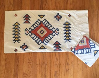 Pair of king size Native American print pillowcases
