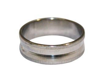 Men's ring in sizes L M N O P Q R s T U V W personalised / engraved - UM