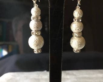 Christmas Snowball Earrings