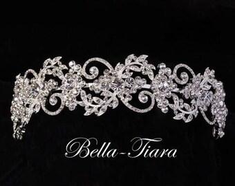 swarovski crystal headband, crystal wedding headband, crystal bridal headband, wedding headpiece, bridal headpiece, wide wedding headband