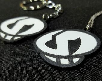 Team Skull Pokemon Laser Engraved Acrylic Pendant