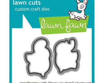 Lawn Fawn - Lawn Cuts - Dies - Love You Tons