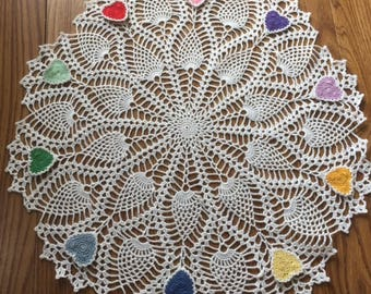 3 IN 1 Crochet Pineapple doily