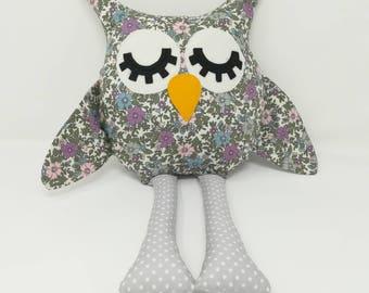 Soft cuddly cotton owl
