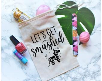 Let's Get Smashed, Bachelorette Party Favor, Bachelorette Party Favor Bag, Bachelorette Party Gift, Gift Bag, Fiesta Bachelorette Party