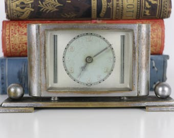 Art Deco Desk Clock - Vintage 1920's Decorative Clock
