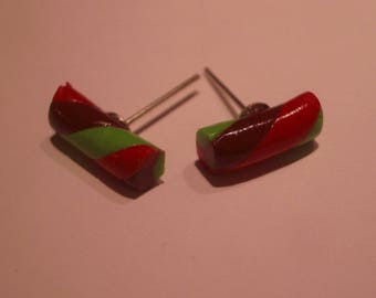 THESE FANCY MARSHMALLOWS POLYMER CLAY STUD EARRINGS