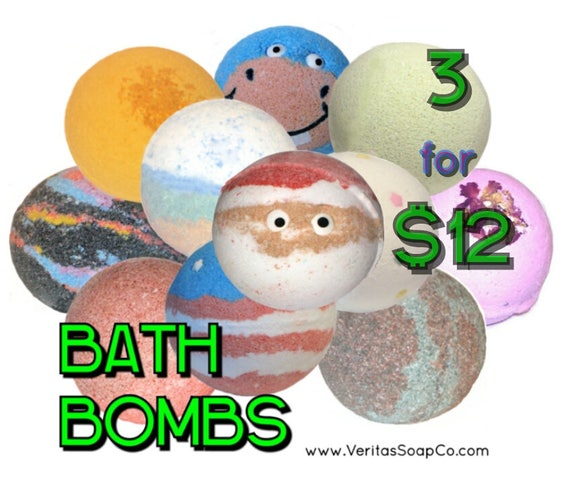 Bath Bomb SALE - 3 for 12 Dollars - Save Money when you buy 3 or more Bath Bombs! (Companys Choice) - / Vegan / Bath Fizzer / Bath Bomb /
