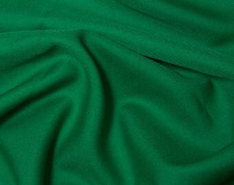 """Emerald Green - Polyester Twill Plain Fabric 150cm (59"""") Wide Dressmaking Material"""