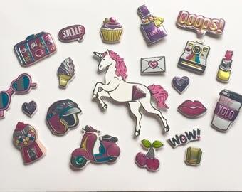 Girly Pop Art Magnets