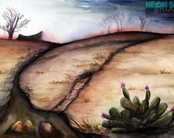 Barren - Original Watercolor Painting