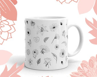 Floral Mug made in the USA