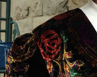Floral Velvet Bolero Shrug - New Romantics Style