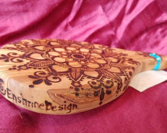 EnshrineDesign repurposed wood burned Olive Wood cutting/cheese board.