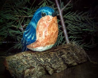 Carved Bird (Eastern Blue Bird)