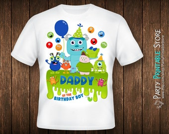 Birthday Dad Shirt, Monsters Inc Birthday Shirt, Monsters Inc Party Shirt, Iron On Monster, Monster Iron On, Monster Birthday Shirt Family