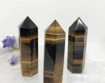 Golden Tigers Eye Tower/Generator - A Stone for Courage and Strength