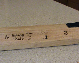Handcrafted Fly Rod Case For Flyfishing Rod With Images an Inscription Handmade for Fly Fishing Rod Case
