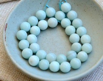 12mm Amazonite Beads, Large Round Amazonite Beads, Gemstone Beads, Semi Precious, Soft Green Natural Amazonite ,One Strand,33,MAN17-0126I
