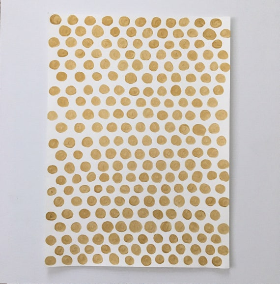 Abstract Gold Dot Original Painting -The Golden Spot