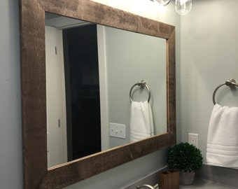 FREE SHIPPING - Shiplap Reclaimed Wood Mirror by Lane of Lenore in 20  stains - Rustic