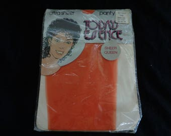 Vintage panty hose orange tights NOS