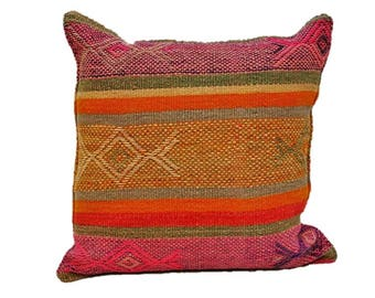 """24"""" Pillow Made From Vintage Frazada"""