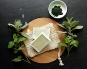 PREORDER Sage & Spearmint Cold Process Soap + Spirulina