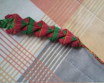 Beautiful macrame bracelet with waxed thread