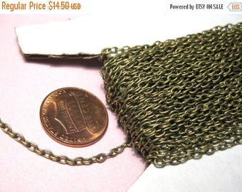 50% OFF Clearance Sale-- 32ft spool Antique Bronze Cable Chains Links Opened 3x2mm(No.983)
