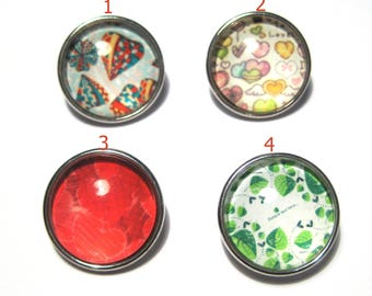 Silver Tone Round Snap Buttons Charms(No.39)