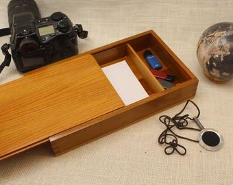 Sliding Top Photo Box, Photo Box 5 x 7 with partition, Sliding Top Box, Sliding Lid Box, Sliding Lid Photo Box, , Wooden Photo Box, st51129D