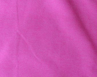 Fabric - medium weight stretch cotton/denim - hot pink