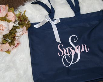 bridesmaid tote, bridesmaid bag, bridal totes, monogrammed tote, bridesmaid gift, wedding gift, wedding party gift