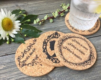 Penny Dreadful Themed Cork Coaster Set of 4