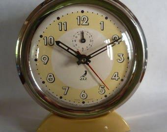 Vintage French Mid Century Modern Jaz Alarm clock 1951 All Original