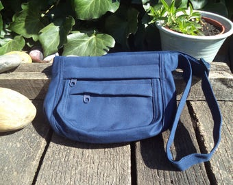 Blue canvas fanny pack,hip bag,belt bag