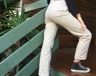 Cream/ beige  highwaisted levi mum  jeans