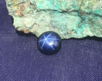 Blue Star Sapphire 6 Ray 10mm , 5mm Height