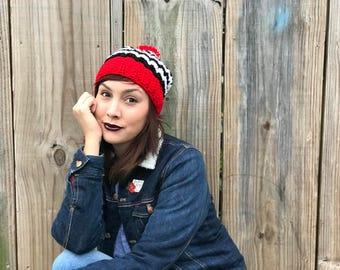 Twin Peaks Inspired Beanie//Crochet Twin Peaks Hat
