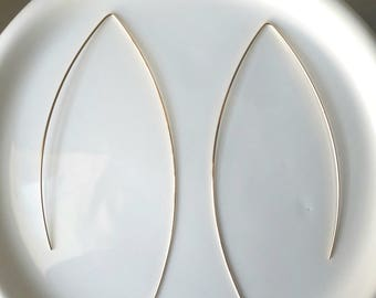 Wishbone Threader hoops 14k goldfilled or sterling silver
