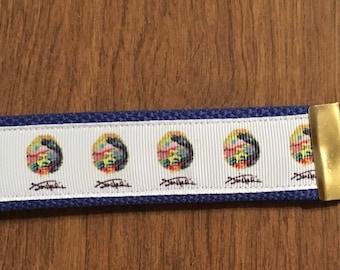 Jimi Hendrix Key Chain Zipper Pull Wristlet