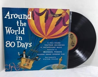 Around The World In 80 Days vinyl record 1958 Cinema Sound Stage Orchestra EX