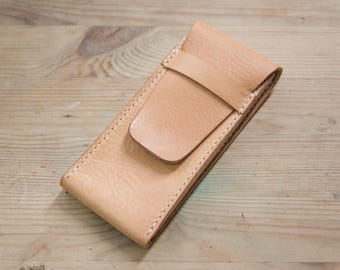 Natural Minverva Box Vegetable tanned Leather Watch Pouch