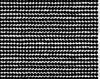 Marimekko Rasymatto fabric, half yard, 18 x 56 inches,  black and white, from Finland