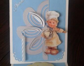 3d 1 easel card
